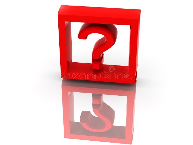 Pregunta. Símbolo stock de ilustración