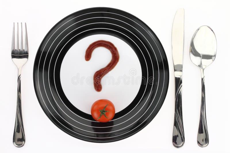 Pregunta sobre el alimento imagenes de archivo