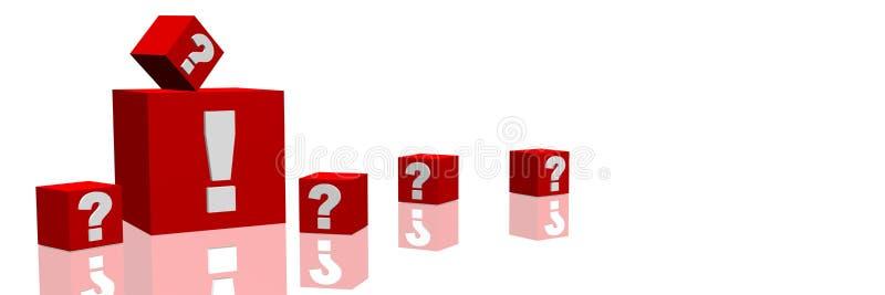 Pregunta y respuesta stock de ilustración