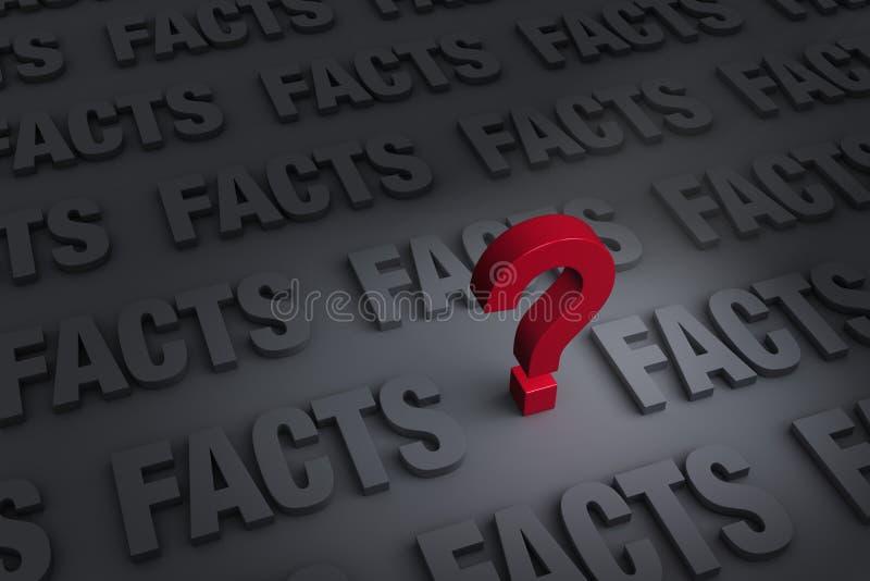 Preguntar los hechos ilustración del vector