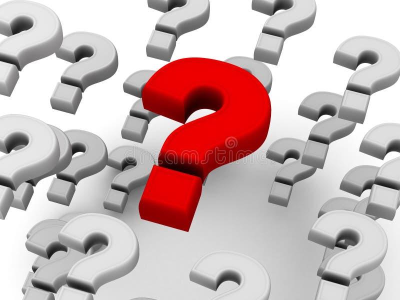 Preguntas stock de ilustración