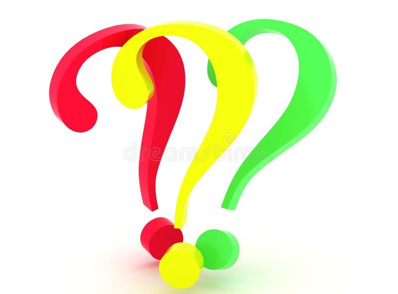 Preguntas. 3d stock de ilustración