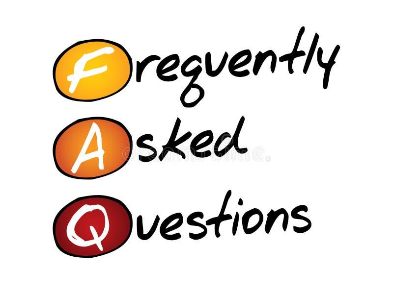 Preguntas con frecuencia hechas (FAQ), concepto del negocio libre illustration
