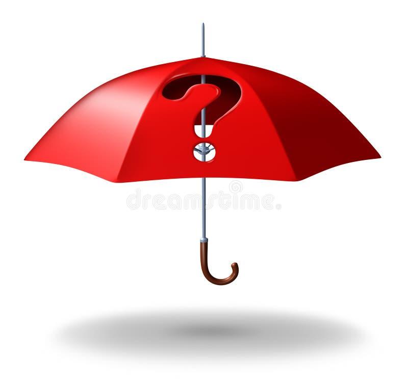 Preguntas de la protección ilustración del vector
