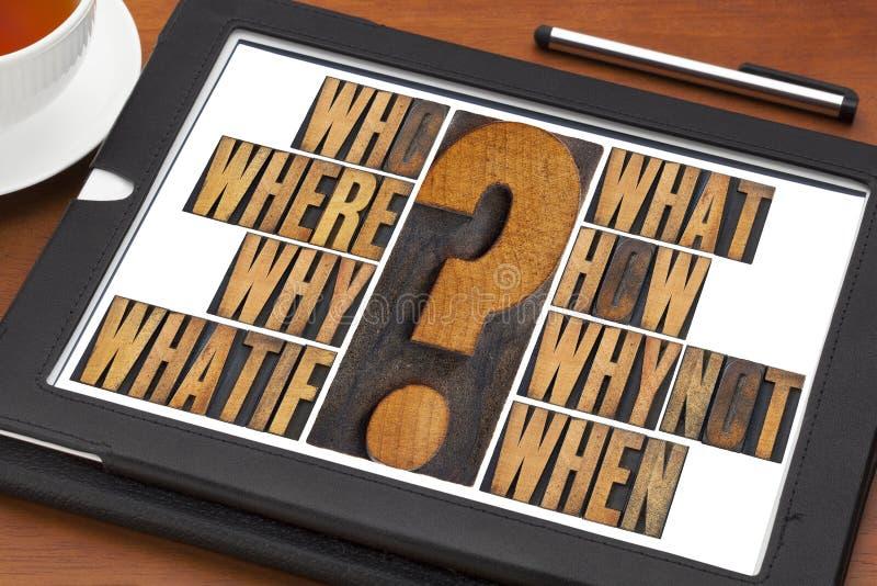 Preguntas de la reunión de reflexión fotografía de archivo libre de regalías