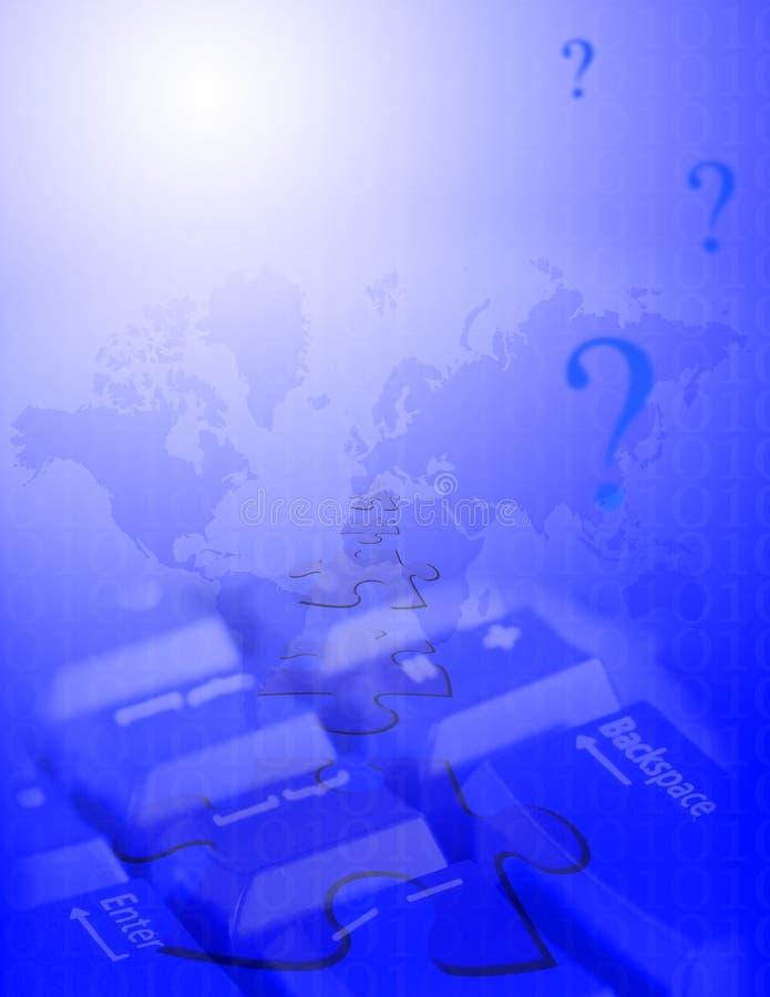 Preguntas del Internet stock de ilustración