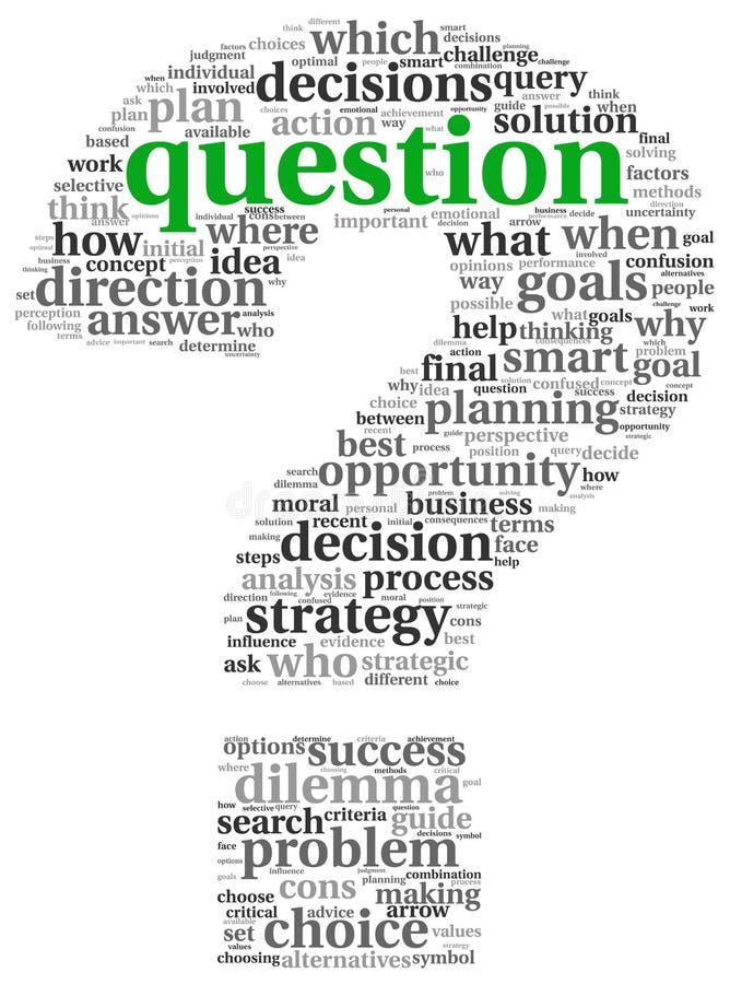 Preguntas en signo de interrogación libre illustration