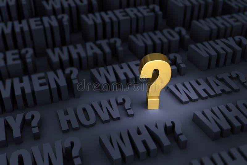 Preguntas exigentes foto de archivo libre de regalías