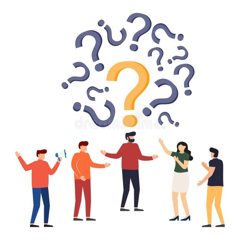 Concepto Con Frecuencia Pedido De Las Preguntas Metáfora De Ruegos Y Preguntas Fondo De La Ilustración Del Vector Personaje De Di Stock de ilustración - Ilustración de preguntas, personaje: 141742786
