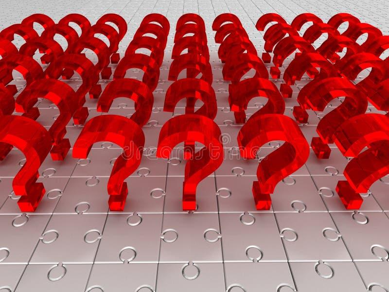 Preguntas. rompecabezas fotos de archivo