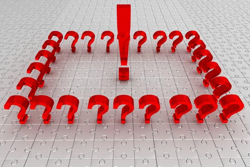 Preguntas. rompecabezas. Idea foto de archivo libre de regalías
