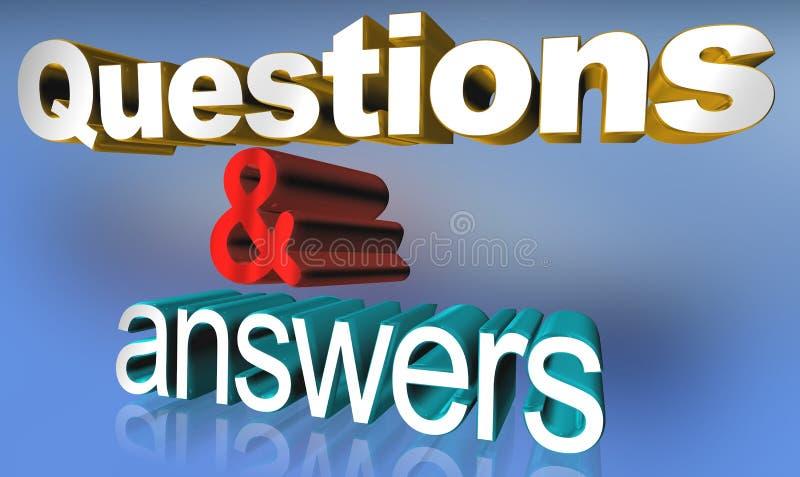 Preguntas y respuestas stock de ilustración