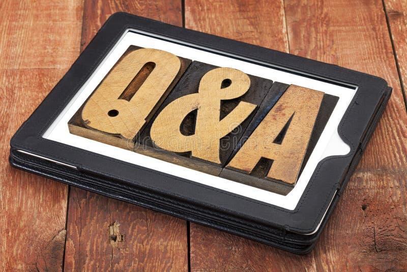Preguntas y respuestas - Q&A imagenes de archivo