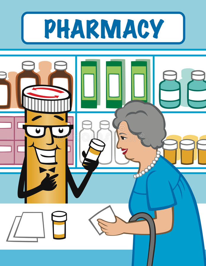 Pregunte a farmacéutico fotografía de archivo
