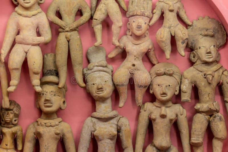 Prehispanic art at Rufino Tamayo Museum in Oaxaca Mexico. Oaxaca, Oaxaca / Mexico - 21/7/2018: Prehispanic art at Rufino Tamayo Museum in Oaxaca Mexico stock photography