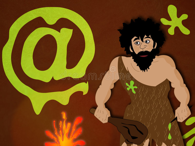 Prehistoric man royalty free illustration