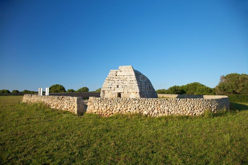 Prehistoric Naveta des Tudons stock photography