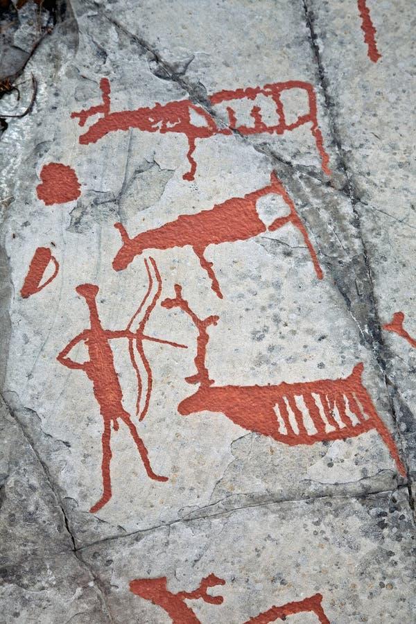 Prehistoric painting stock photo