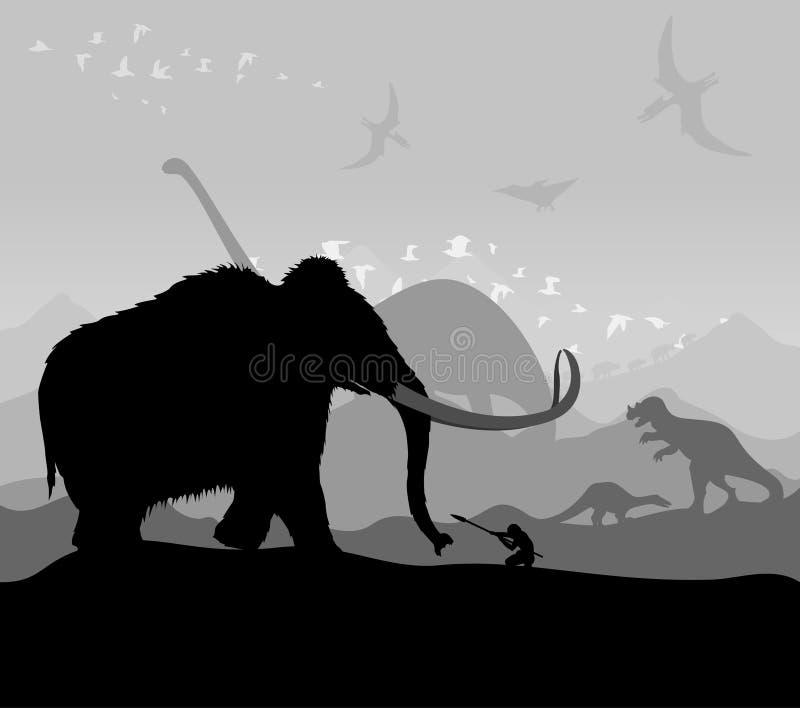 Prehistoric time vector illustration