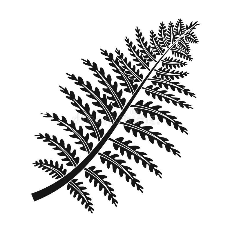 Prehistoryczna rośliny ikona w czerń stylu odizolowywającym na białym tle Dinosaury i prehistoryczny symbolu zapasu wektor ilustracji