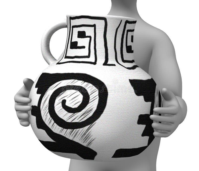 prehistoryczna waza ilustracja wektor