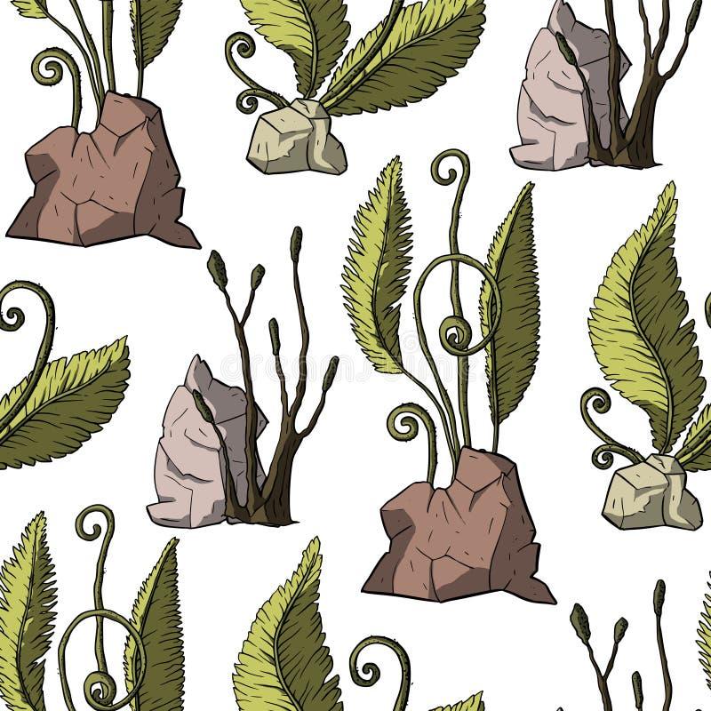 Prehistoryczne wektor rośliny ilustracja wektor