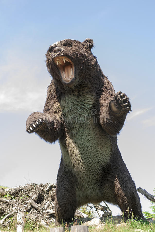 Prehistoryczny niedźwiedź zdjęcia royalty free