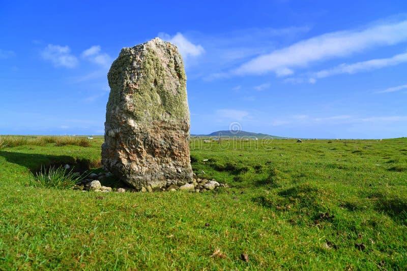 Prehistoryczny pozycja kamień na Szkockiej wyspie zdjęcia royalty free