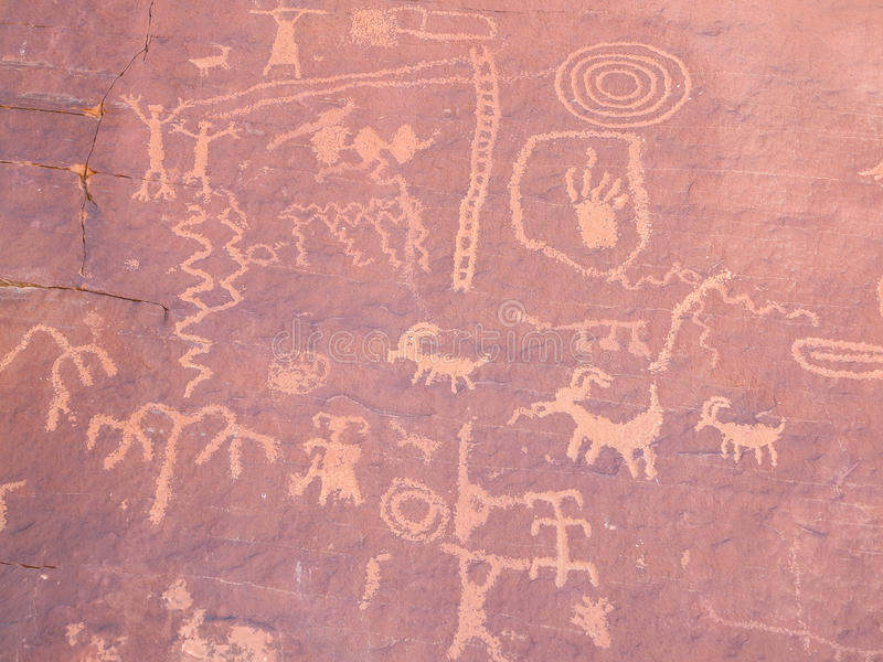Prehistoryczny rockowy obraz royalty ilustracja