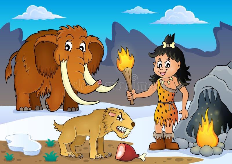Prehistoryczny tematu wizerunek 3 royalty ilustracja