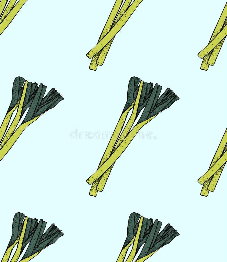 Preipatroon Photo-realistic vectorillustratie van de preinatuurvoeding van gezonde groente vector illustratie