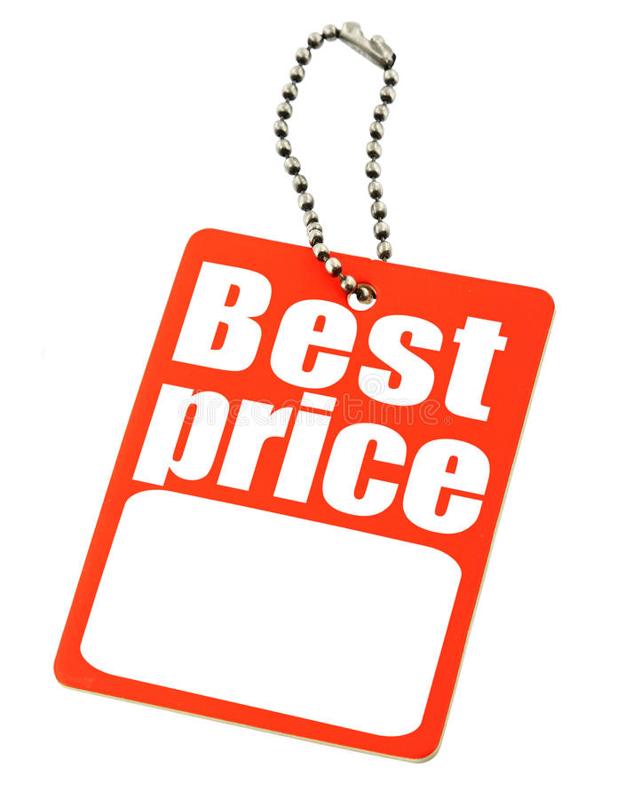 Preis auf Weiß lizenzfreies stockbild