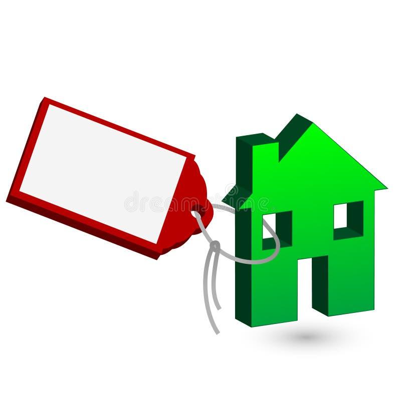 Preis eines grünen Hauses lizenzfreie abbildung