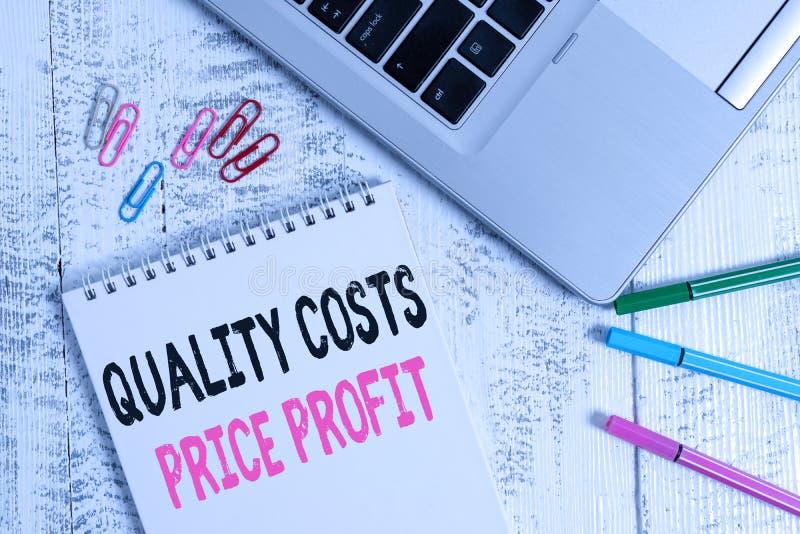 Preis für die Verarbeitung von Text-Qualität Begriff: Saldo zwischen dem Gewinnwert des Unternehmens und dem Wert des Schlanken M stockfotos