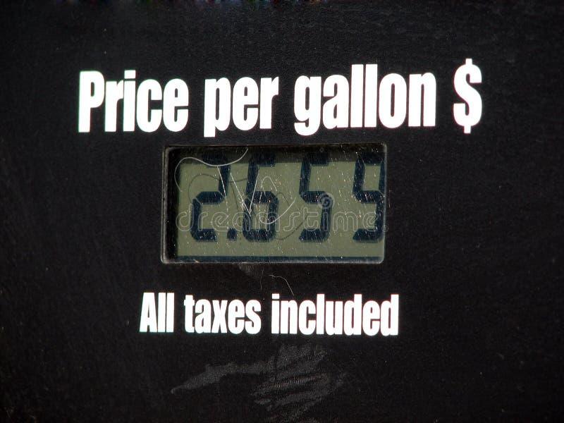 Preis pro Gallone stockfoto