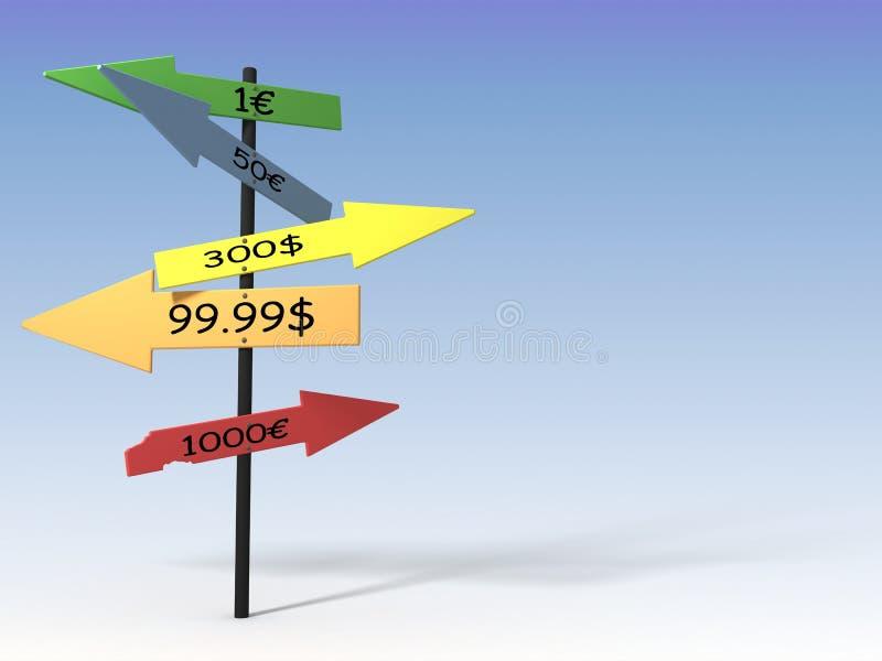 Preis-Richtung vektor abbildung