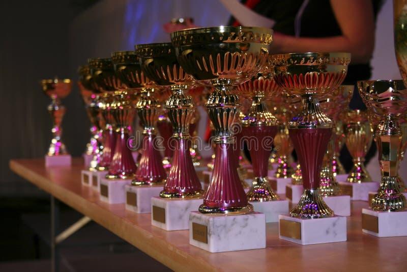 Preise auf Belohnungszeremonie lizenzfreie stockbilder