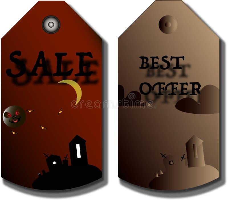 Preise, Aufkleber für Halloween stock abbildung