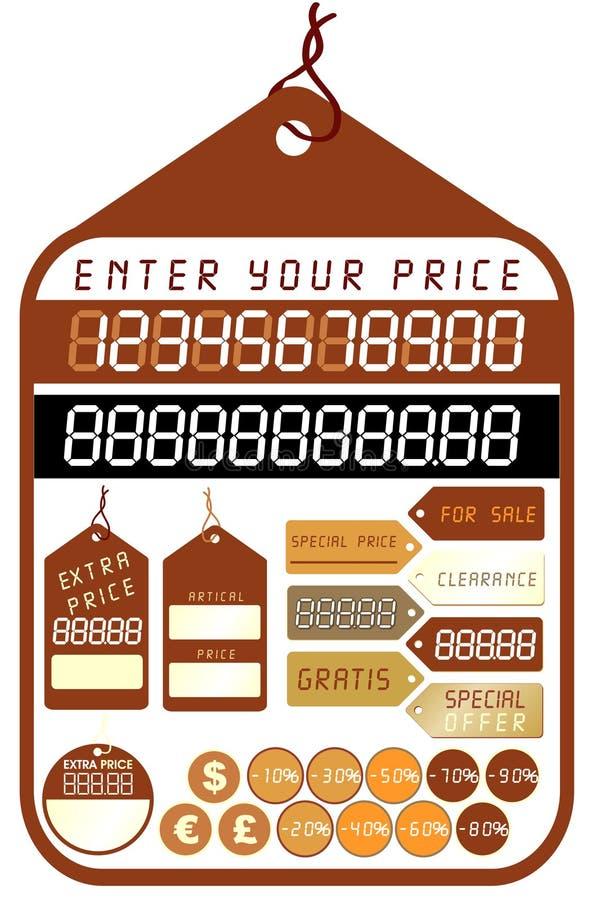 Preise - Vektor lizenzfreie abbildung