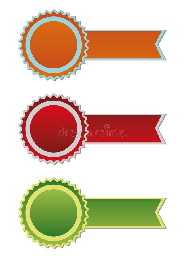 Preisfarbbänder lizenzfreie abbildung