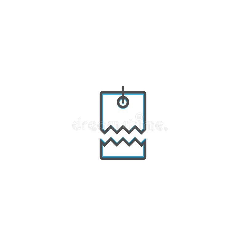Preisikonenlinie Entwurf Geschäftsikone Vektorillustration vektor abbildung