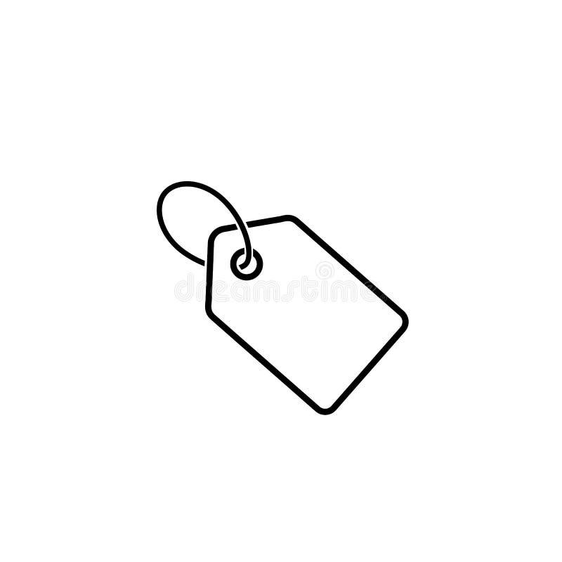 Preisikonenlinie Symbolvektor auf Weiß lizenzfreie abbildung