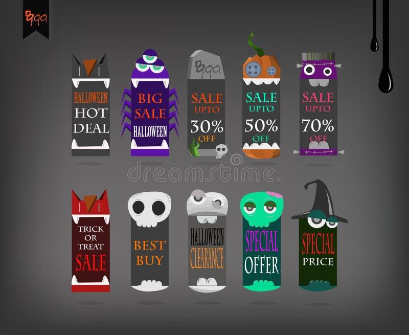 Preisvektor Halloween stock abbildung