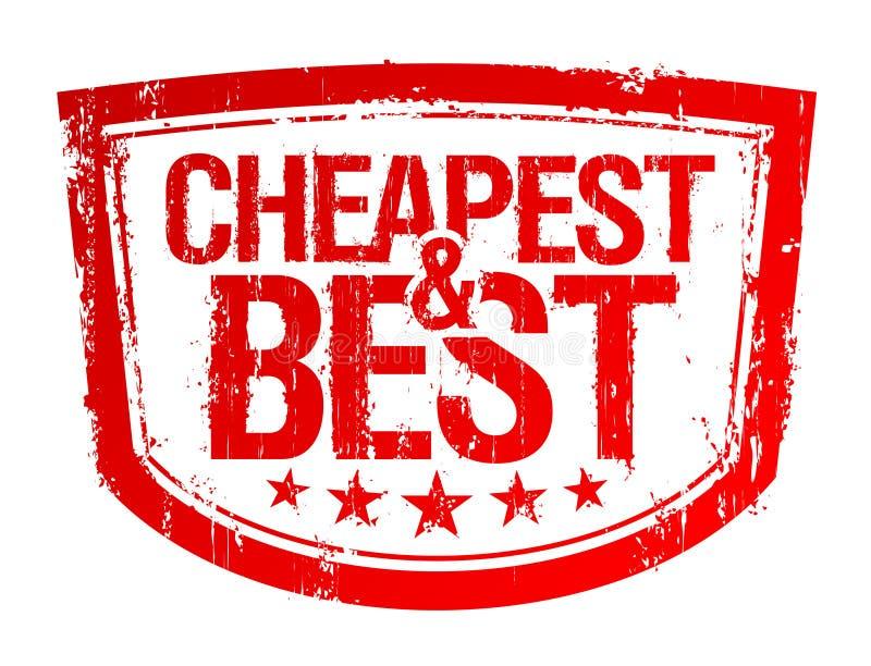 Preiswertester und bester Stempel. lizenzfreie abbildung