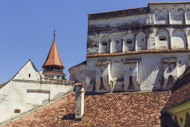 Prejmer加强了教会,罗马尼亚 免版税库存图片