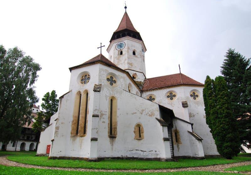 Prejmer church in Transylvania stock images