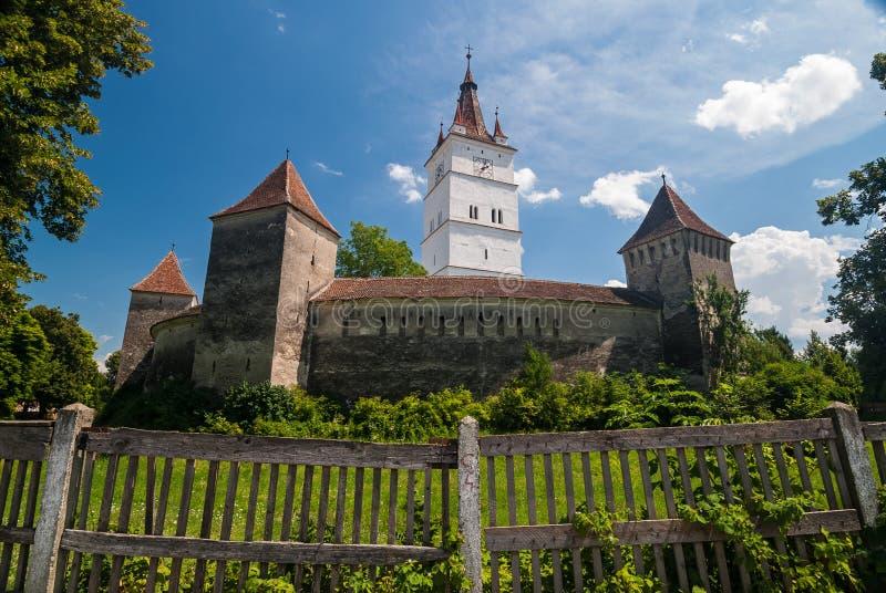 Prejmer a enrichi l'église, Roumanie image libre de droits