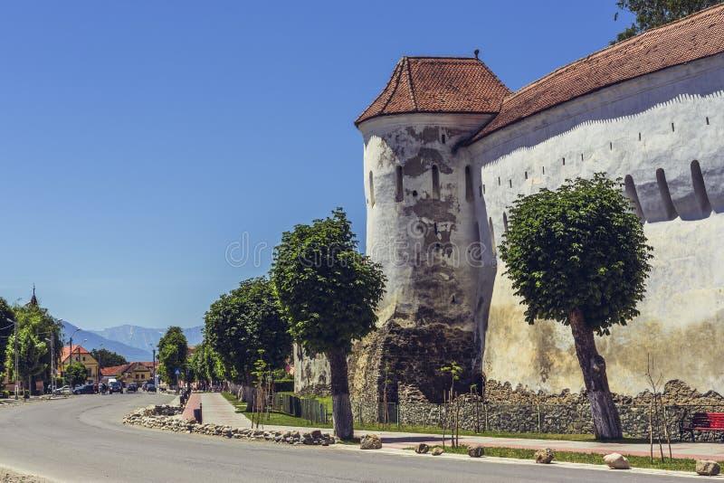 Prejmer a enrichi l'église, Roumanie photos stock