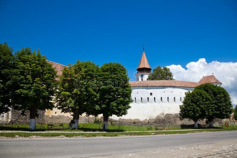 Prejmer fortificou a igreja fotos de stock