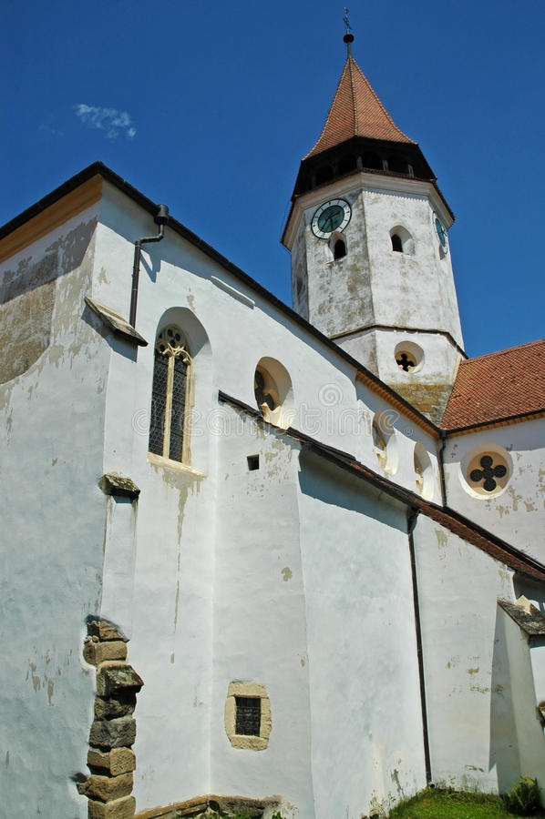Prejmer fortificou a igreja, Brasov. A Transilvânia imagem de stock
